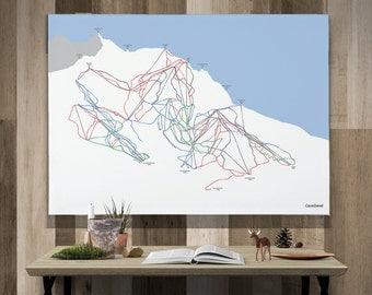 Courchevel Canvas Piste Map A1 or A2