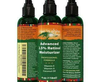 4 oz 2.5% Retinol Moisturizer Cream for Face with Vitamin A, Vitamin E - Anti-Aging Facial Moisturizer and Improves Skin Tone
