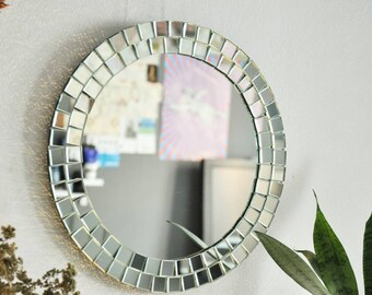 Mosaic Mirror / Wall Mirror / Modern Mirror / Handmade Mirrors / Decorative Mirror / Round Mirror / Christmas Decoration / Christmas Gift