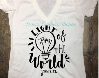 Light of the World Shirt | Be the Light Shirt | Christian Shirt | Jesus Shirt | Faith Shirt | Women's Christian Shirt