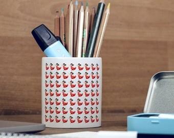 Dancer Emoji Red Dress Pattern Emoji Pencil Pot, Pencil Holder, Pen Pot, Pen Holder, Gift Idea, Children Gift, PP017