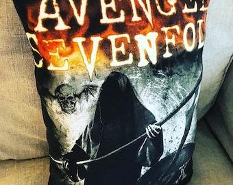 Handmade Grim Reaper Avenged Sevenfold Cotton Printed Throw Pillow