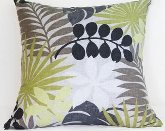 Palm Leaf Pillow Cover,  Close-Out Sale, 20 x 20 Pillow Cover with Invisible Zipper