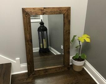 unique mirror farmhouse wood frame mirror rustic wood mirror bathroom mirror