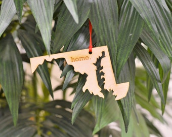 Maryland State Home Christmas Ornament