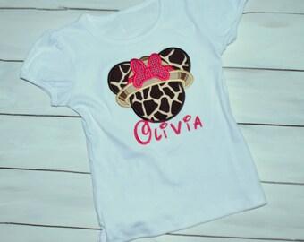 Girl Mouse Safari Shirt - Family Vacation Shirts - Animal Kingdom Shirt - Matching Vacation Shirt - Safari Mouse Shirt - Girl Safari Shirt