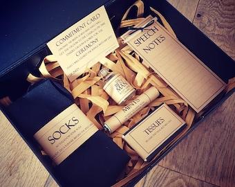 Best Man Box, Best Man Gift Box, Custom Best Man Gift, Joke Gift for Best Man, Groomsmen Gift, Best Man Speech Notes