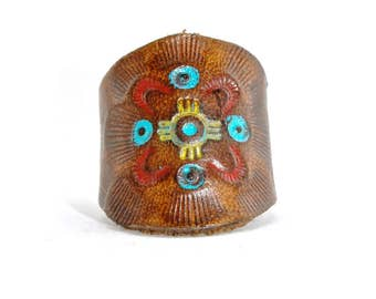Native American Leather Ring
