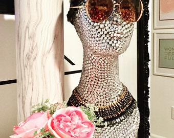 Rhinestone mannequin head - wig display