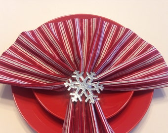 Candy Cane Cloth Napkins~Set of Eight
