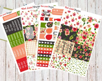 Springtime Blossoms Weekly Bundle, Spring Weekly Kit, Planner Stickers, Spring Stickers, Floral Stickers, Floral Weekly Kit
