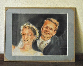 Wedding gift, portrait of the couple.