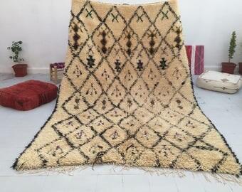 handmade Moroccan Rug, Beni Ourain area Rug