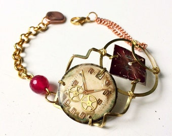 Adjustable dials bracelet vintage watches