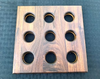 wooden trivet, walnut and maple trivet, kitchen trivet, pot holder,