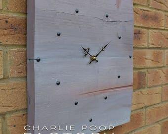 Wall Clock, Rustic Clock, Wooden Clock, Clock, Handmade Wall Clock, Reclaimed Wood Clock, Large clock,  Modern Clock, Large wood Clock