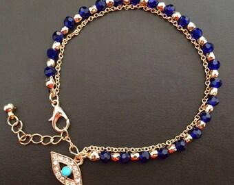 Women's Jewelry Charm Hamsa Hand Lucky Evil Eye Beads Bracelet Gift