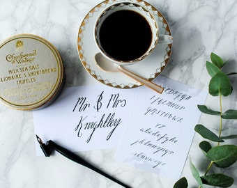 Personalised Mr & Mrs Calligraphy Kit