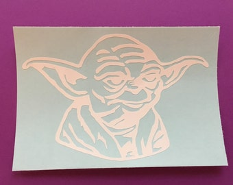 Yoda, Star Wars, Jedi, yoda decal, yoda iron on, Star Wars decal, Star Wars iron on