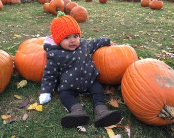 Fall Pumpkin Hat, Child Pumpkin Hat, Newborn Pumpkin Hat, Toddler Pumpkin Hat, Baby Pumpkin Hat