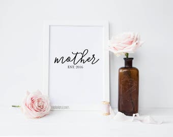 Mother Typography Print - Mother's Day Print