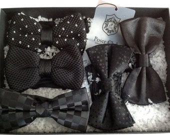 Black Bow Ties by Poser Club