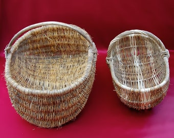 SALE!!! 2 French Antique Wicker Baskets!