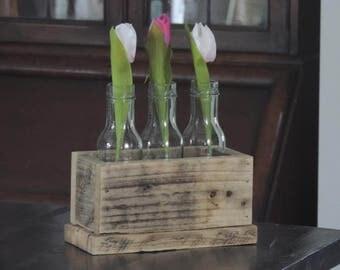 Reclaimed Timber Bud Vase Box