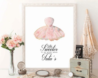 PRINTABLE Art, Ballerina Art Print, Ballet Art, Dancer Art Print, Tutu Print, Dancer Wall Art, Ballet Wall Art, Girls Room Ballet, D100
