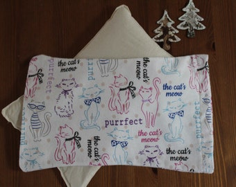 Rice Bag with a Cover. Microwave Heat Pack. Rice Warmer. Rice bag Lovie. Reusable Hot and Cold Pack. Heating Pad. Christmas Gift.  Cats