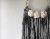 Hair Bow Organizer // Bow Hanger // Bow Holder // Wall Hanging // Nursery Decor // Baby Gift // Bow Hanger // Bow Storage // Cream // Grey