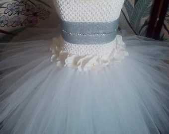 White tutu dress princess