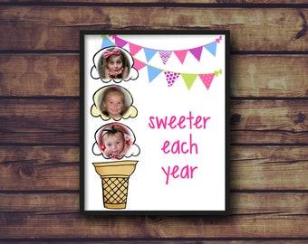 Sweeter Each Year Birthday Print