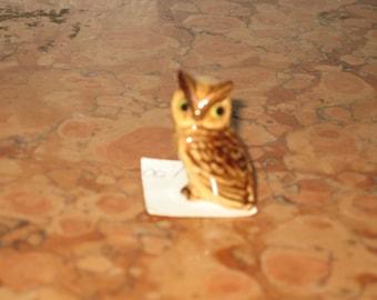 1970's Miniature Ceramic Owl Figurine! #BV