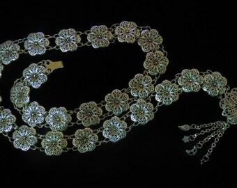 Silver Belt - Flower