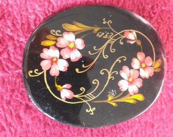 Painted Floral Brooch