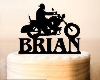 Motorcycle Cake Topper,Bike Cake Topper,Silhouette Motorcycle,birthday Biker Cake Topper,Motorcycle birthday Cake Topper,Biker Topper (0151)
