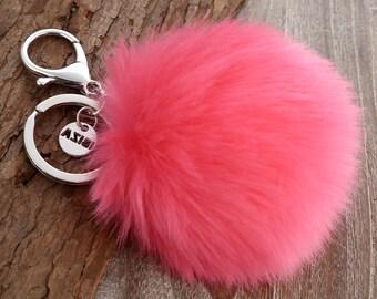 Pom Pom Keychain // Faux Fur Keychain // Furry Keychain // Fur Chain Holder // Pompom Key Chain // Furry Key Chain // Fake Furry Keychain