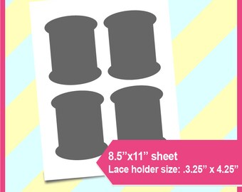 """Lace holder Template, PSD, PNG and SVG Formats,  8.5x11"""" sheet,  Printable 071"""