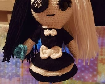 Crocheted Goth / Emo Doll