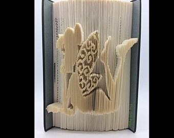Folded Book Art- Fairy-  Christmas - Tinkerbell - Fairy