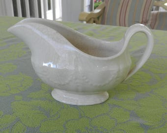 Ironstone Gravy Boat with Swags