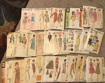 1960's patterns- 34 piece lot