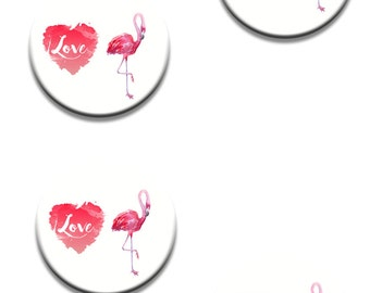 A Pack of 4 Flamingo designed Pattern weights Ideal for weighing down patterns on delicate fabrics Choose a size
