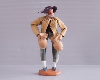 Large French Santon Doll | French Provencal doll | Provence Terra Cotta | Vintage Provence Doll | Potter Santon Figurine | Provence Doll