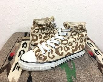 90's converse chuck taylor leopard pattern sneaker size 6
