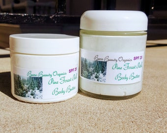 Pine Forest Path // whipped body butter // natural eczema treatment // Shea  butter // cocoa butter // coconut oil // moisturizer // calming