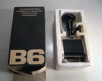 Vintage REINER Metal Hand Held Numbering Machine Stamp Germany