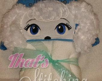 Cinderella inspired puppy hooded  bath towel