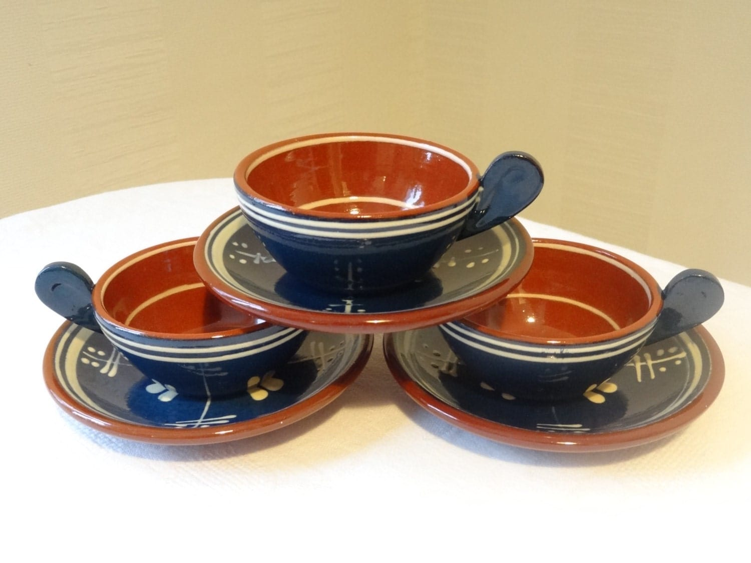 nittsj keramik set of 3 swedish vintage ceramics pottery tea